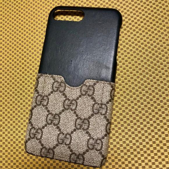 reputable site c59e6 e1ee3 GG supreme canvas iPhone case